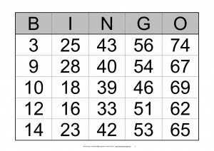 bingo spiel fur senioren basteln