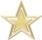 mit goldenen Sternen ein Mobile basteln