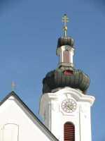 Bildkarten - hier das Bild einer Kirchturmuhr / Kirchturmsuhr für Senioren