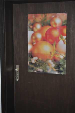 das fertige Weihnachts-Poster aus dem Adventskalender