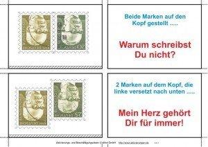 Die Briefmarkensprache zur Kommunikation der Liebenden heute demenzkranken Senioren