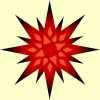 mit roten Sternen animieren Sie Senioren zu Weihnachten