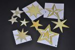 Komplette Bastelvorlage des Sternenmobiles für Senioren an Weihnachten