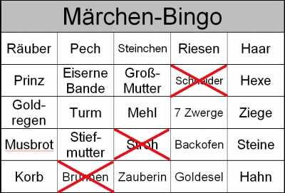 Bingospiel - Themenbingo für Senioren im Heim - Altersheim