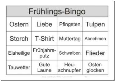 Bilder - Bingo - Spiel zur Beschäftigung für Senioren mit 25 Bildern pro Bingoschein - Spielschein