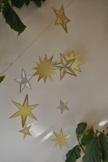 Vorlage Zum Basteln Eines Mobiles Aus Großen Sternen Mit Für