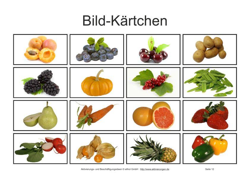 Beliebt Bevorzugt Bilder-Bingo-Spiel für Senioren mit Bildern von Obst und Gemüse #FJ_09