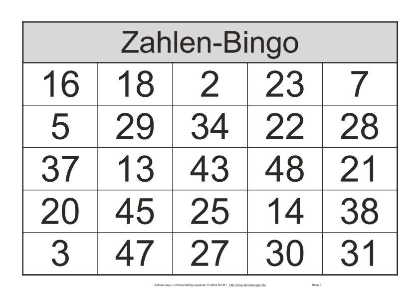 Bingo Zahlen Quittungsnummer