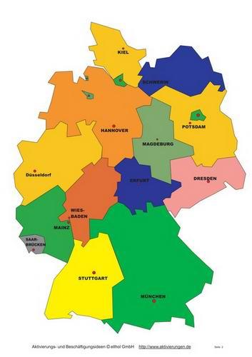 Deutschland Qiuz Fur Senioren Zum Benennen Der Bundeslander Und Stadte