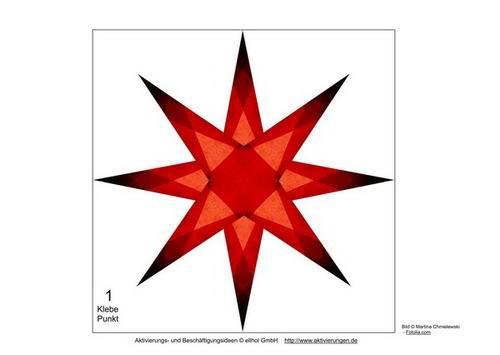 Vorlagen um mit senioren leuchtend rote sterne f r - Weihnachtsbasteln mit senioren ...