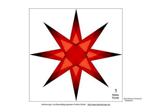 vorlagen um mit senioren leuchtend rote sterne f r weihnachten basteln. Black Bedroom Furniture Sets. Home Design Ideas